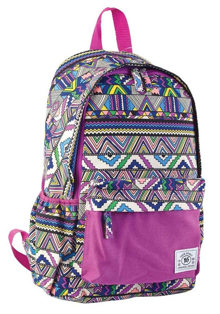 Сиреневый молодежный рюкзак YES ST-15 Ethnos