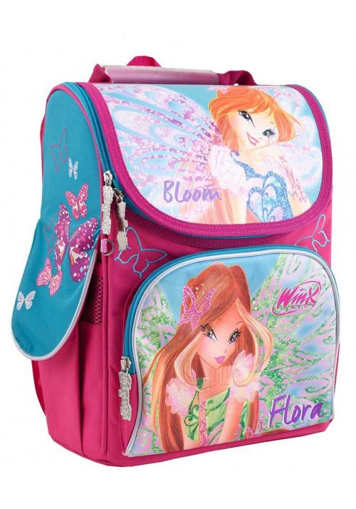 Каркасный школьный рюкзак для девочки H-11 Winx mint