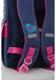 Каркасный школьный рюкзак для девочки H-11 Barbie jeans