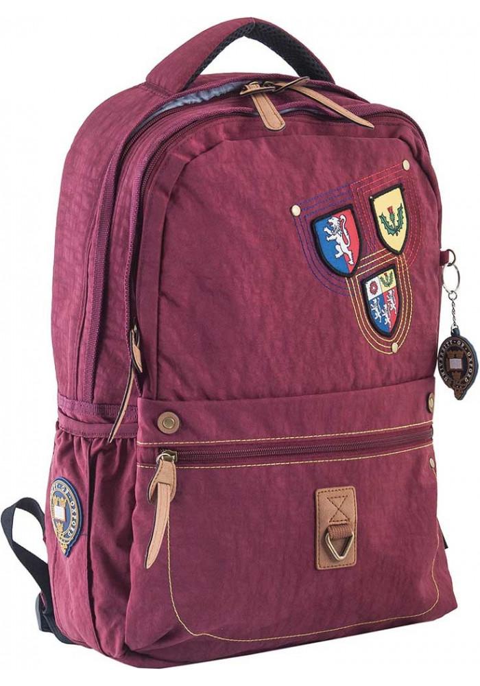 Бордовый городской рюкзак серии Oxford YES OX 194