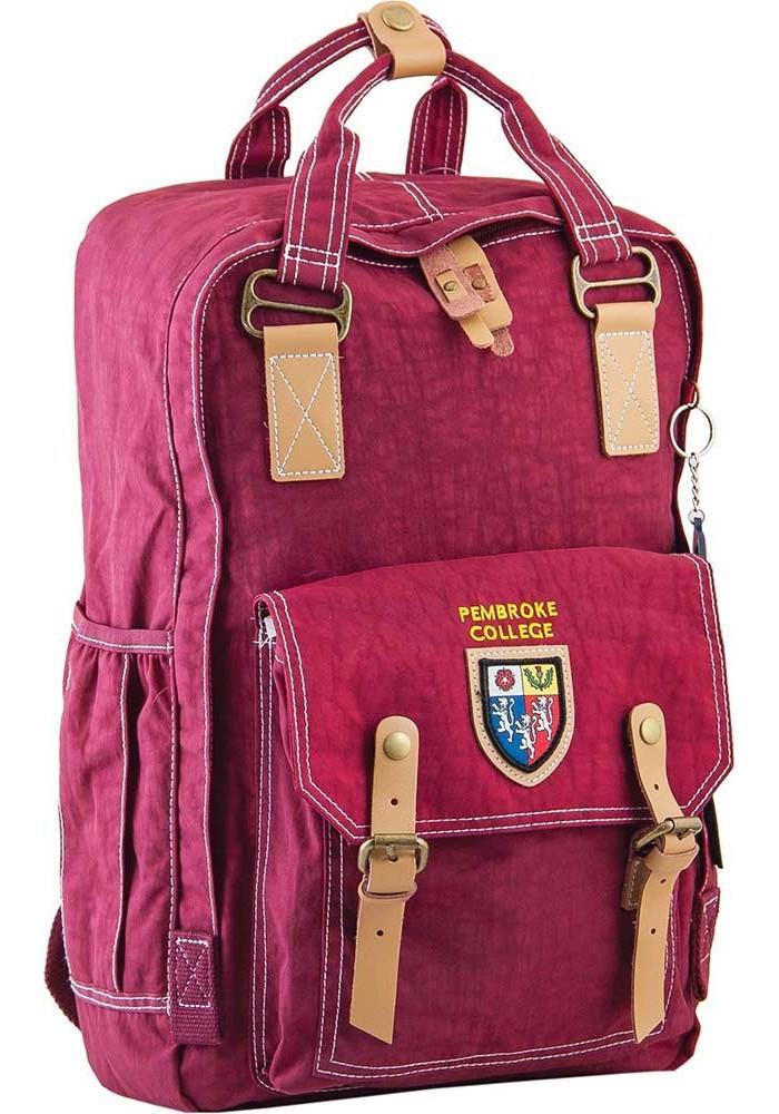Большой бордовый городской рюкзак серии Oxford YES OX 195