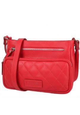 Фото Женская кожаная сумка LASKARA LK-DS256-red