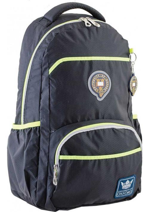 Черный подростковый рюкзак для мальчика серии Oxford YES OX 313