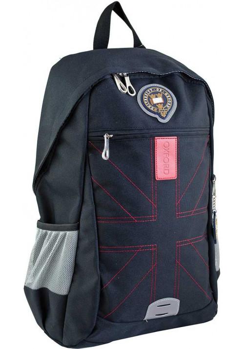 Черный подростковый рюкзак для мальчика серии Oxford YES OX 316
