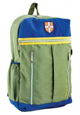 Фото Зеленый подростковый рюкзак с желтой вставкой серии Cambridge YES CA 095