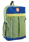 Зеленый подростковый рюкзак с желтой вставкой серии Cambridge YES CA 095