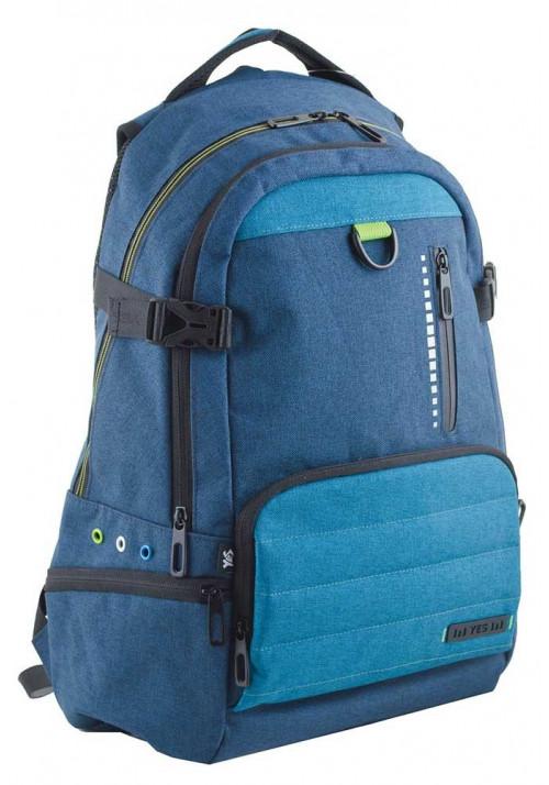 Синий подростковый рюкзак для мальчика  T-35 Carter