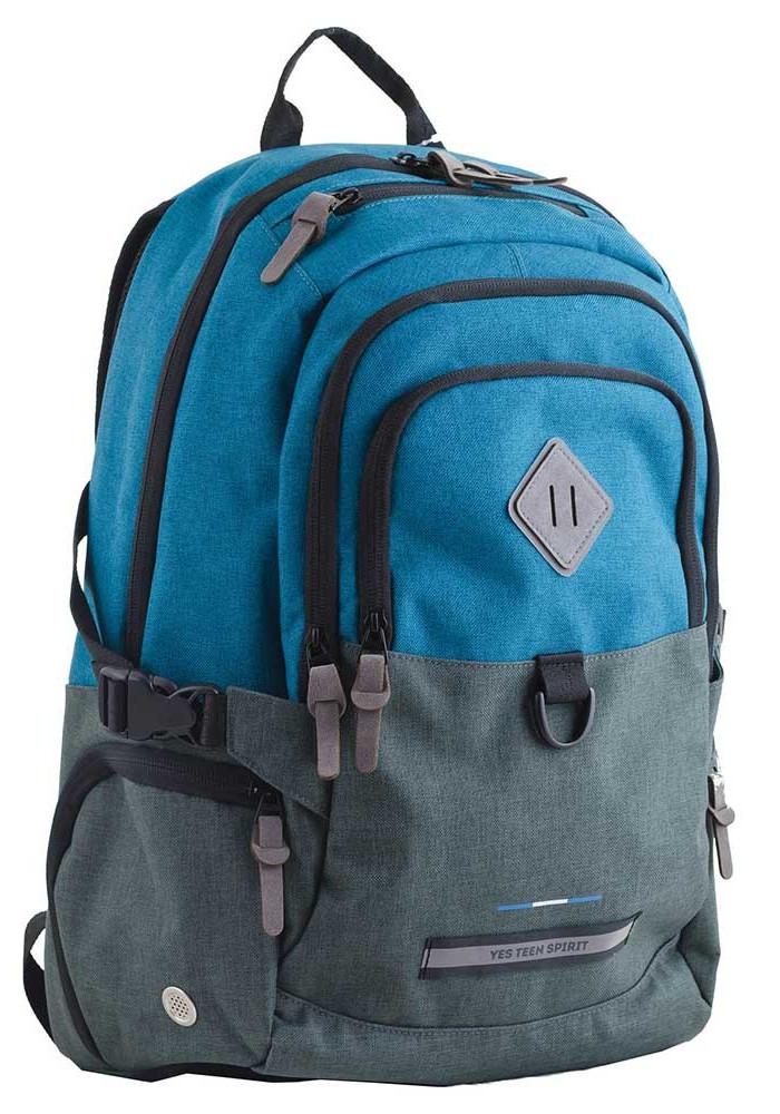 Сине-серый подростковый рюкзак для мальчика  T-35 Edmond