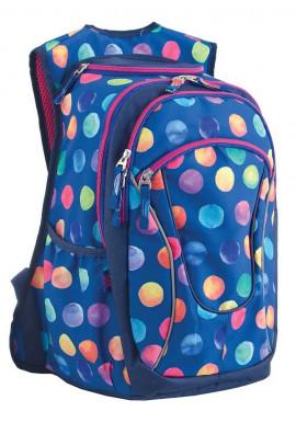 Фото Синий рюкзак для подростка с шариками T -28 Ball