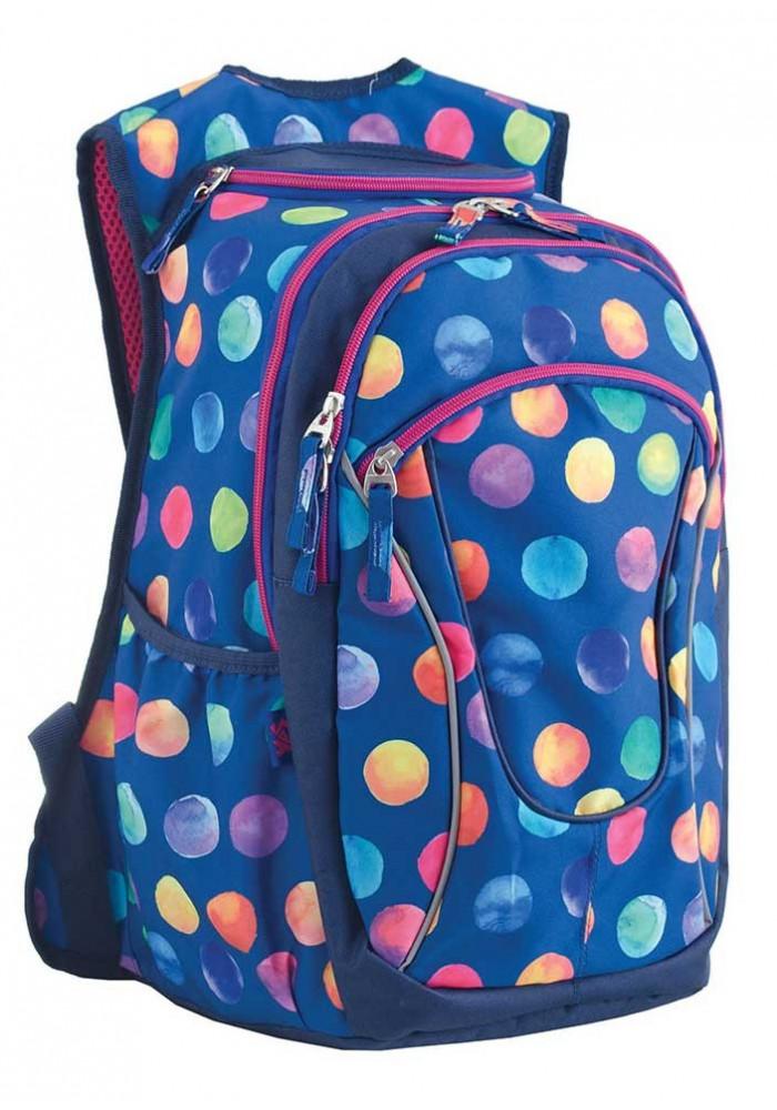 Синий рюкзак для подростка с шариками T -28 Ball