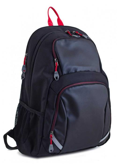 Классический черный рюкзак для мальчика T-31 Rudy