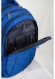 Синий рюкзак для подростка в полоску T -31 Lori