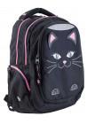 Черный подростковый рюкзак с котиком Т-22 Cat
