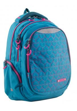 Фото Голубой подростковый рюкзак для девочки Т-22 Mint hearts