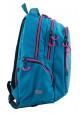 Голубой подростковый рюкзак для девочки Т-22 Mint hearts, фото №2 - интернет магазин stunner.com.ua