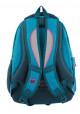 Голубой подростковый рюкзак для девочки Т-22 Mint hearts, фото №3 - интернет магазин stunner.com.ua