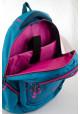 Голубой подростковый рюкзак для девочки Т-22 Mint hearts, фото №8 - интернет магазин stunner.com.ua