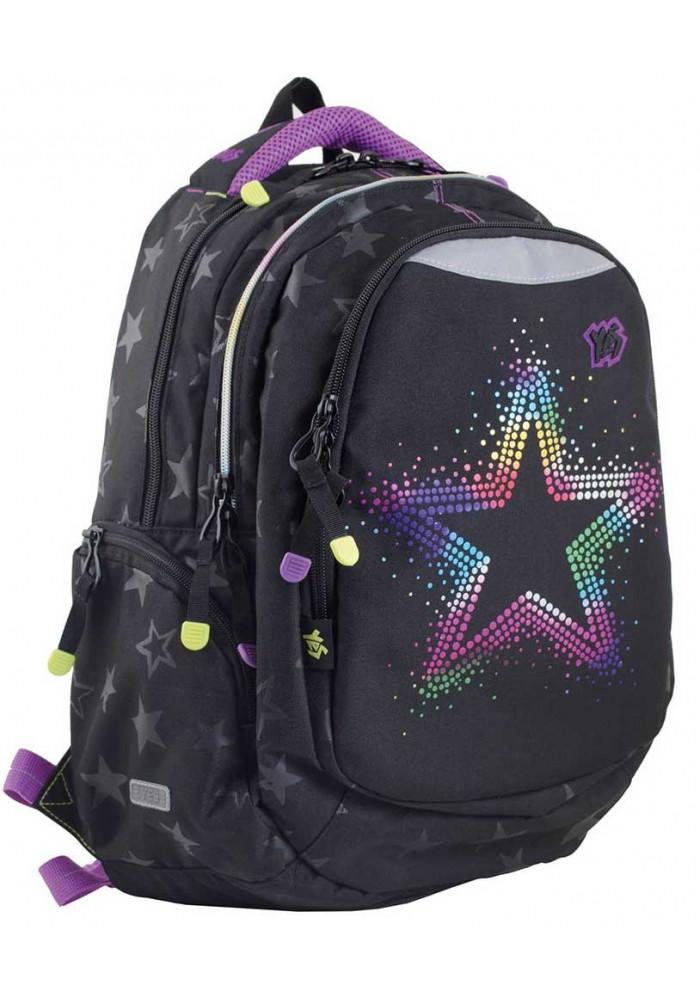 Черный подростковый рюкзак со звездочками Т-22 Star