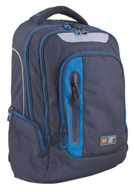 Фото Черный подростковый рюкзак Т-22 With blue