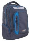 Черный подростковый рюкзак Т-22 With blue