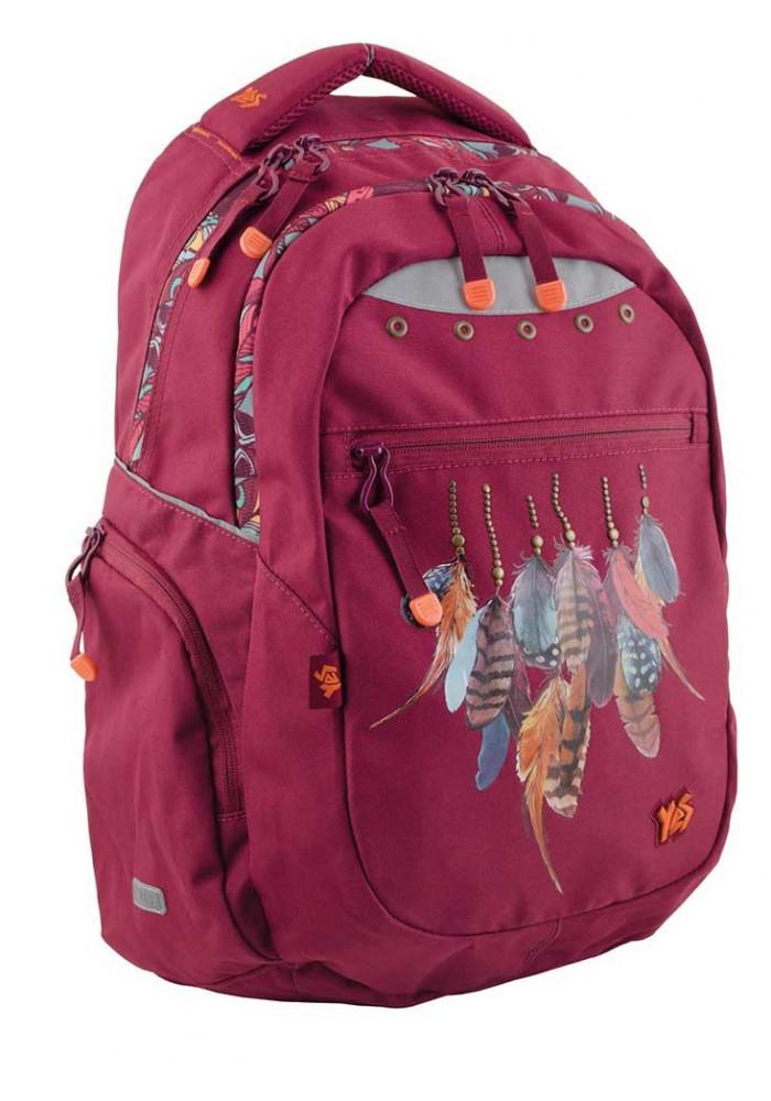 Бордовый подростковый рюкзак Т-22 Dream catcher