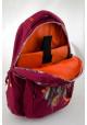 Бордовый подростковый рюкзак Т-22 Dream catcher, фото №8 - интернет магазин stunner.com.ua
