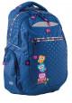 Светло - синий подростковый рюкзак с совами Т-23 Owl