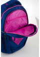 Синий подростковый рюкзак для девочки с сердцем Т-23 Shining heart, фото №7 - интернет магазин stunner.com.ua