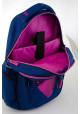 Синий подростковый рюкзак для девочки с сердцем Т-23 Shining heart, фото №8 - интернет магазин stunner.com.ua