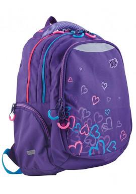 Фото Стильный фиолетовый подростковый рюкзак Т-24 Hearts