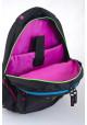 Черный подростковый рюкзак с яркими вставками Т-24 Smile, фото №8 - интернет магазин stunner.com.ua