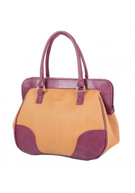 Фото Женская сумка LASKARA LK-10246-straw-cognac
