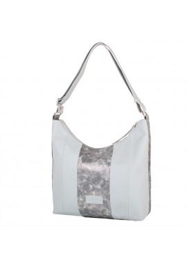 Фото Женская сумка шоппер LASKARA LK-10249-silver-snake