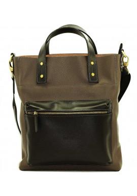 Фото Серая мужская кожаная сумка Vatto Mk6