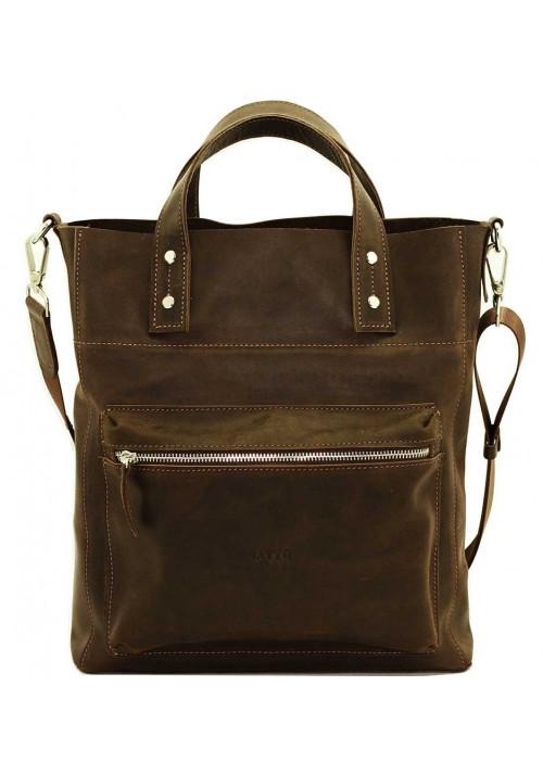 Коричневая мужская кожаная сумка Vatto Mk6