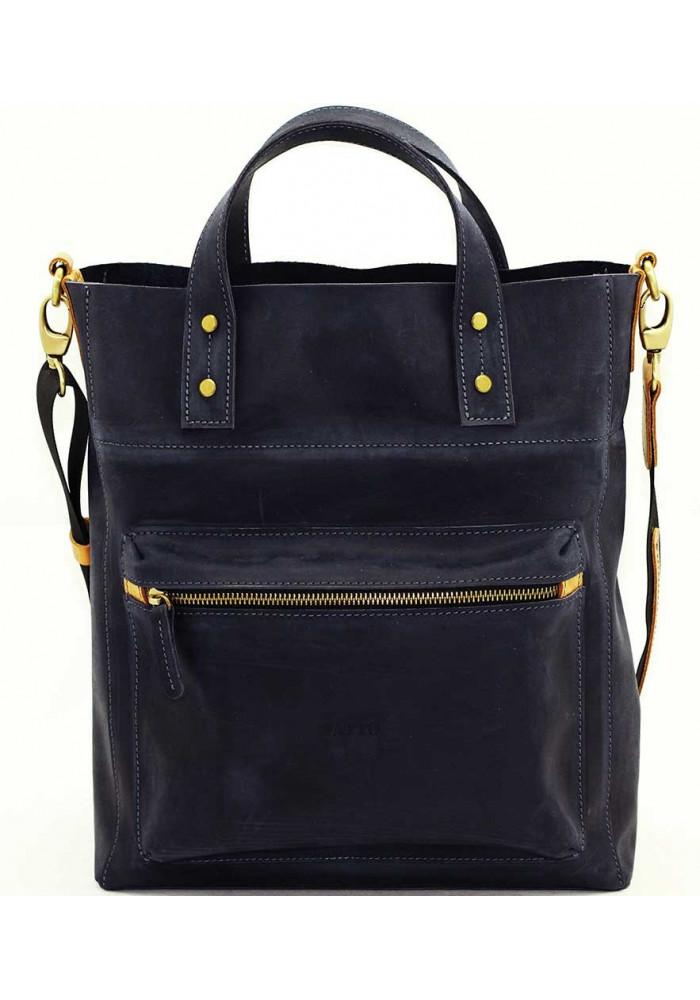 Синяя мужская кожаная сумка Vatto Mk6