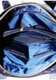 Синяя матовая кожаная мужская сумка Vatto Mk6