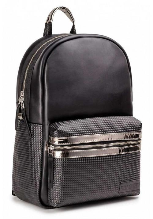 """Черный городской рюкзак BBAG """"PIXEL"""" BLACK"""