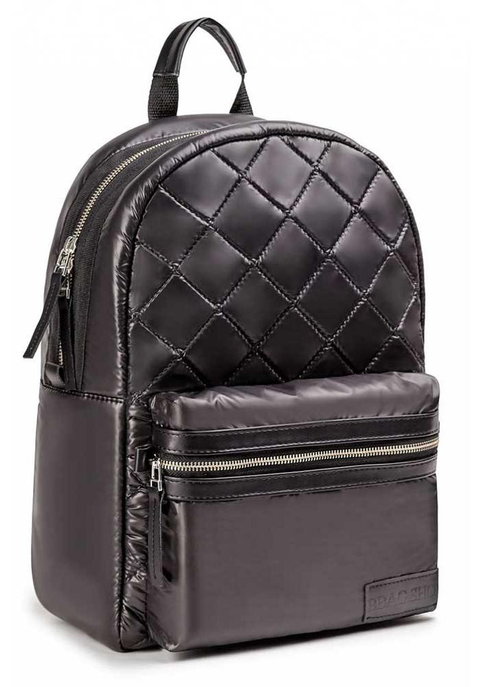 Черный глянцевый городской рюкзак BBAG DEEP BLACK