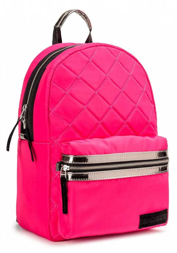 """Розовый городской рюкзак для девочки BBAG """"FLUFFY"""" PINK"""