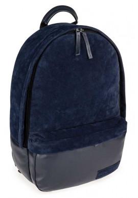Фото Синий замшевый городской рюкзак для BBAG