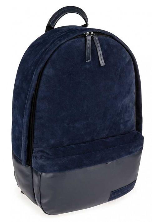 Синий замшевый городской рюкзак BBAG