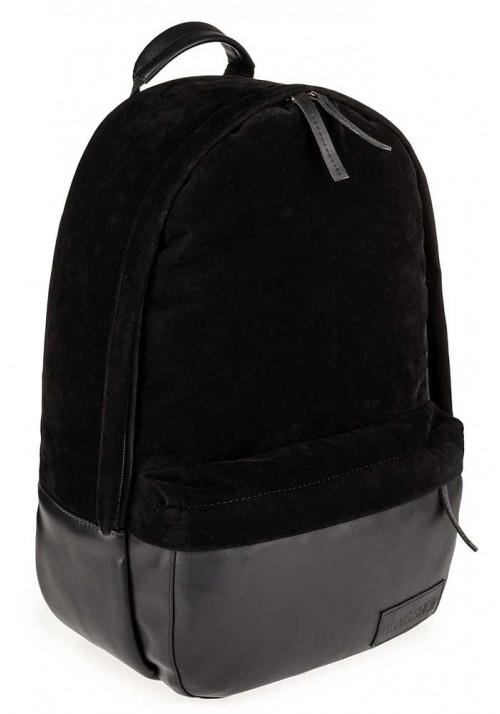 Черный замшевый городской рюкзак BBAG