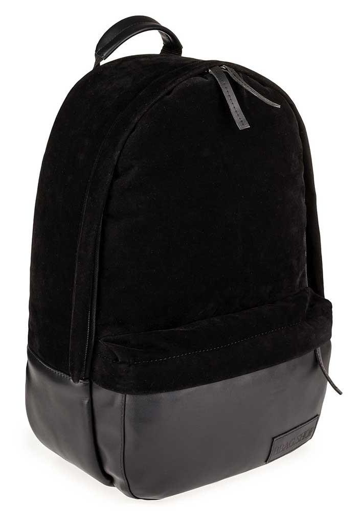 Черный замшевый городской рюкзак для BBAG