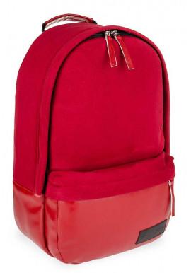 Фото Красный замшевый городской рюкзак для девушки BBAG