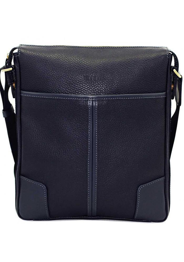 Фото Синяя кожаная мужская сумка через плечо Vatto MK10