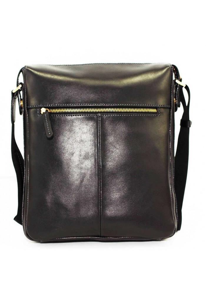 d9f06b299840 ... Черная кожаная мужская сумка через плечо из гладкой кожи Vatto MK10, ...