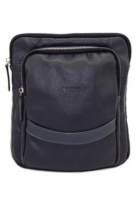 Фото Синяя кожаная мужская сумка через плечо Vatto MK-12.2