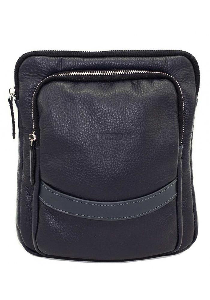 Синяя кожаная мужская сумка через плечо Vatto MK-12.2