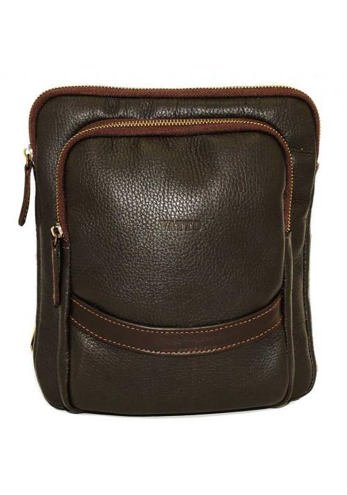 Коричневая кожаная мужская сумка через плечо Vatto MK-12.2